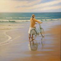 Bicicleta II oleo sobre lienzo 50x50 4500