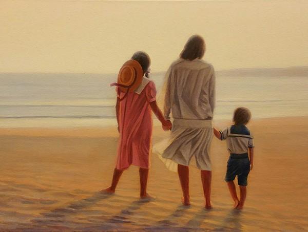 La familia oleo sobre lienzo 40x80 4700