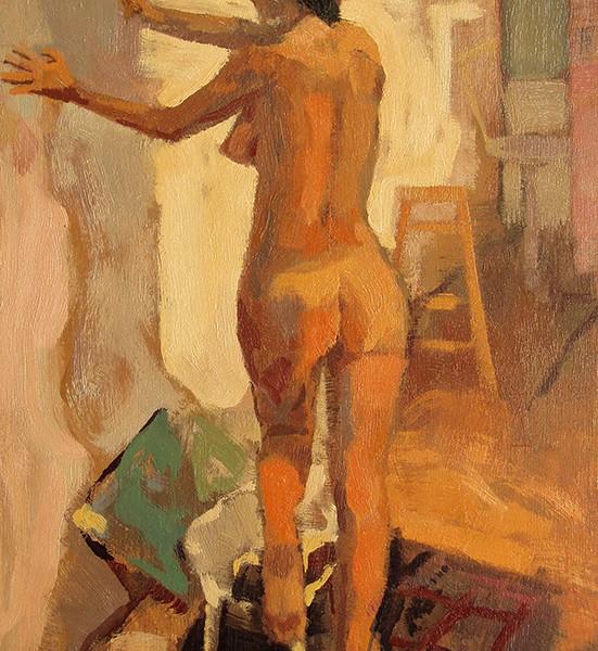 87- Desnudo en la pared. 55 x 38 cm