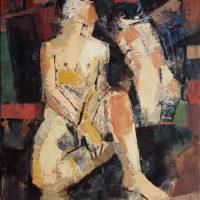Jorge Pedraza. Dos figuras. 73 x 60 cm. 2009