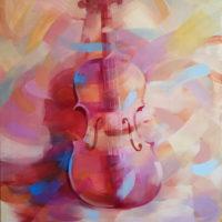 Violin Oleo sobre lienzo 73x54 1800