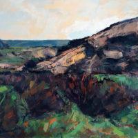 paisaje 120 x 150 cm óleo sobre tabla
