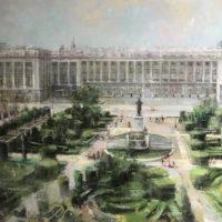 Palacio Real oleo sobre tabla 104x122 2800